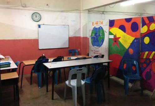 The refugee school where I teach English on Tuesdays. It's rewarding and heartbreaking.
