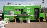 Creative food trucks at farmer's market.