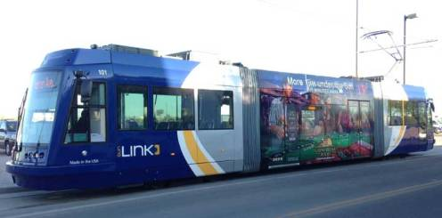 Tucson now has a street car. It looks like it's a real city all of a sudden.