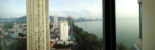 View from the hotel in Penang.