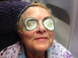 Jean on the plane. She is the QUEEN of high maintenance.