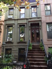The brownstone where we're staying in Park Slope.