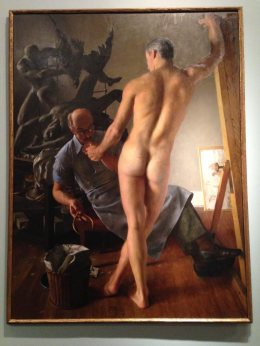 Suggestive painting - dang - I didn't get the artist's name. It's on the 5th floor of the Brooklyn Museum.