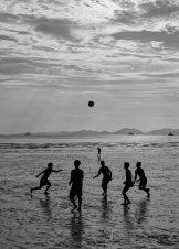 Sunset soccer ala Cartier-Bresson.