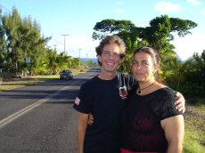 Bill and Kimberly, my dear comrades during my year in Hawaii.