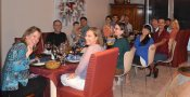 Thanksgiving at Cynthia and Scott's for 17 expat Americans and a couple non-Americans who wondered what's up with all the mushy food.
