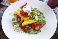 Grilled polenta The Elephant restaurant in Ubud. Stunning!