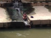 Goodbye to the guy pooping the river by the apartment.