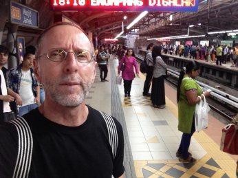 Goodbye to hot nights waiting for the LRT at Masjid Jamek station.
