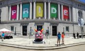 The Asian Art Museum decked out for Pride. Their admission charge is now $25. Shame.