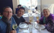 with Jean at Eric's Chinese restaurant in Noe Valley.
