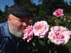at the rose garden.