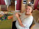 Jean making starry crowns for wedding reception