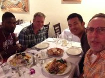 An AMAZING dinner with Francis and Andrew at Wild Garlic Grill...truly the best meal in town for the price. Thank you, Andrew for this lovely wedding present.