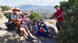 With Rob and Ning and Jinjing and Austin and Alex on Mt. Lemmon.