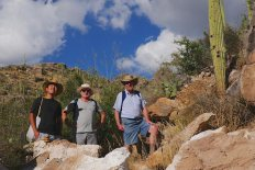 with friend Chris and his friend at Pontatoc Canyon in Tucson
