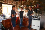 With Erik and Christopher at their house in Cascabel