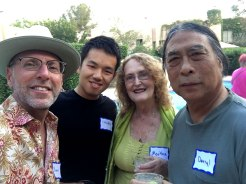 with Marth and Darryl Schoon...the coolest neighbors in Tamarisk!