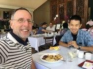 at Eric's restaurant
