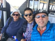 with Arthur on ferry