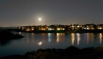 full moon rise from Jean's bedroom window in Marin