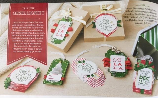 WoRkShOp: Weihnachtliche Geschenkanhänger