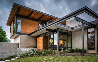 Arquitectura moderna en fachadas y casas vanguardistas