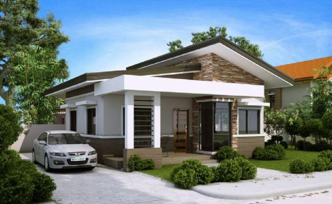 Fachada De Casa Moderna Con Galeria Frontal