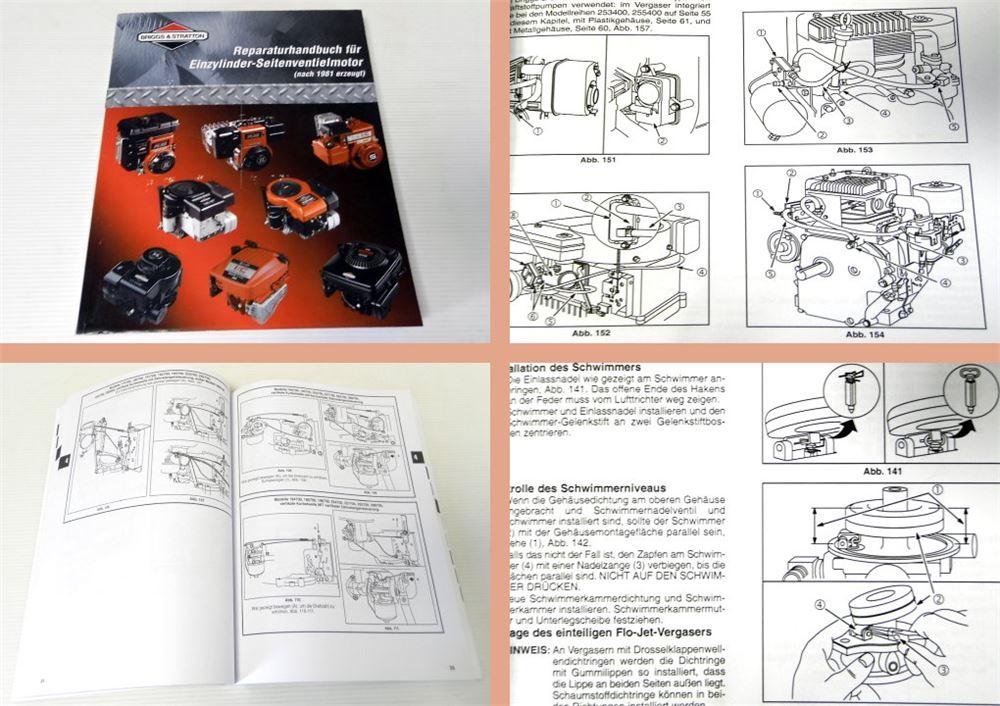 briggs and stratton reparaturhandbuch nest thermostat wiring diagram werkstatthandbuch & einzylinder-seitenventilmotor reparatur 2000 | ebay