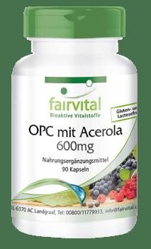 OPC 600mg mit Acerola - 90 Kapseln | Vitalstoffe & Gesundheitsprodukte