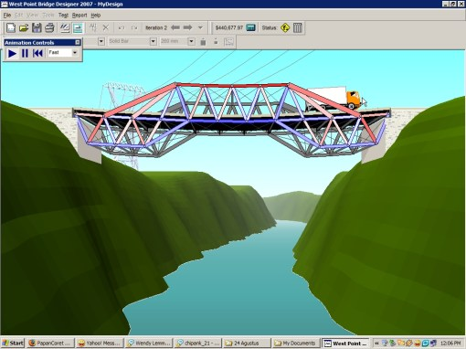 West Point Bridge Designer freeware jembatan  Fach