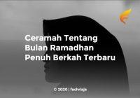 Ceramah Tentang Bulan Ramadhan Penuh Berkah Terbaru