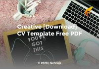 Creative [Download] CV Template Free PDF