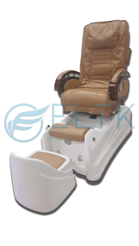 spa pedicure chair aluminum rocking patio chairs eltk 628b facial care 628 beige