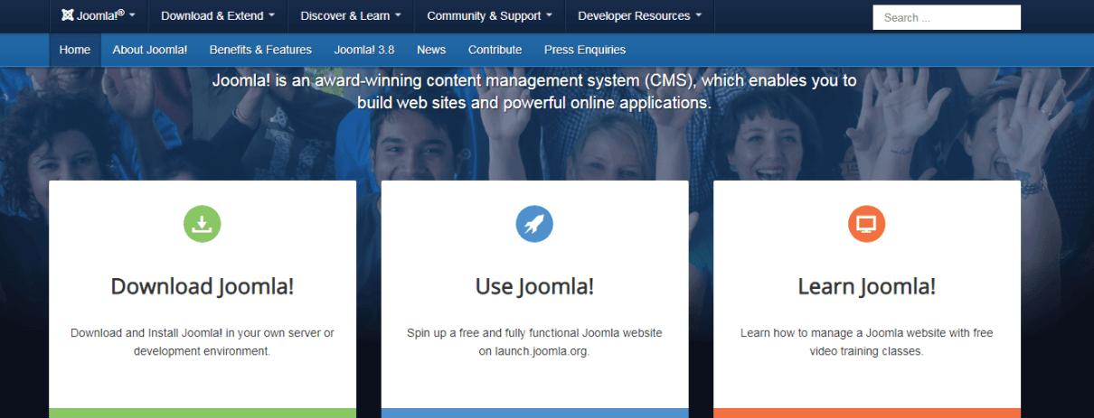 Joomla blogging CMS