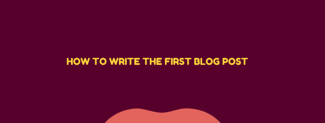 write the first blog post