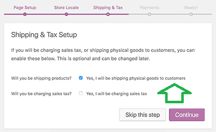 how to setup shipping and tax for online store in Woo commerce