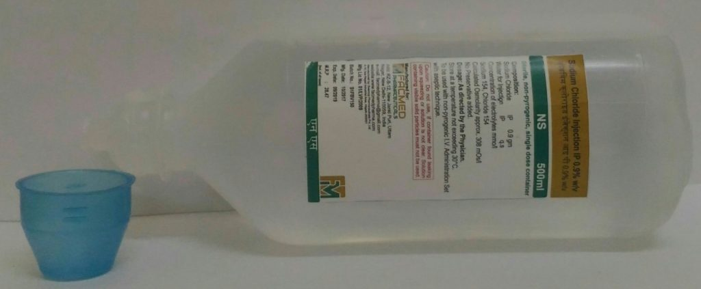 Large Volume Parenteral Normal Saline Solution Ringer Lactate