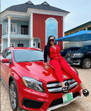 Real Mercy Aigbe New Mercedes Benz Car