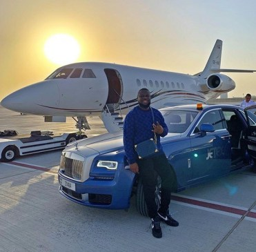 Hushpuppi Private jet and car