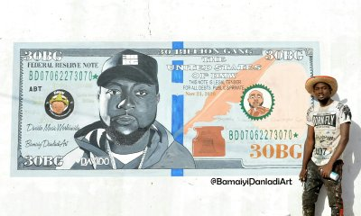 Davido Reacts After An Artist Drew A Beautiful Painting Of Him On A Dollar Bill