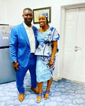 Leke Adeboye with his sister-in-law Tolulope Mike Bamiloye