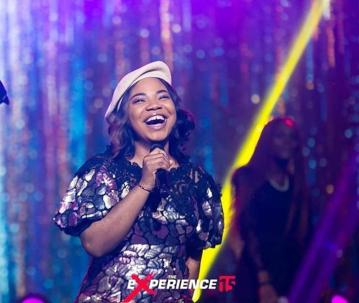 Mercy Chinwo at the experience