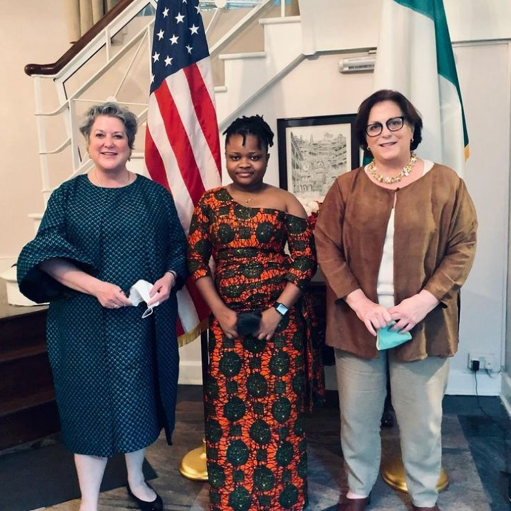Rinu with The Consul General & the US Ambassador to Nigeria.