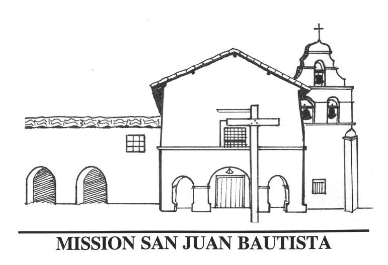 San Juan Capistrano Mission Layout Sketch Coloring Page