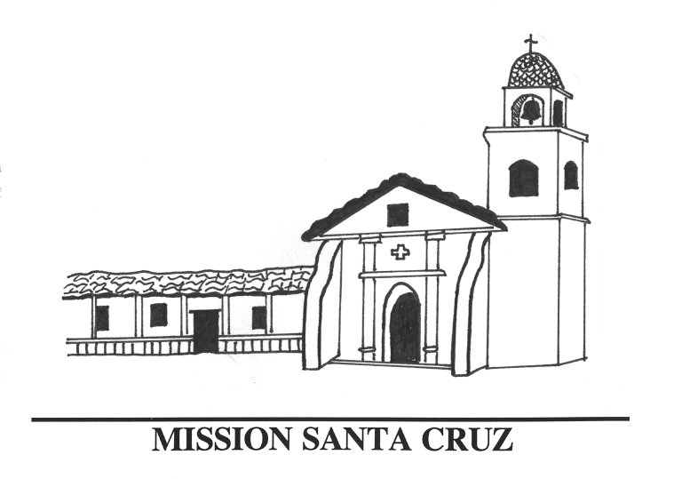 santa barbara mission inside. dulemba coloring page