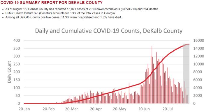 Georgia Covid Cases - August 14, 2020