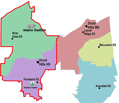 Druid Hills Annexation Map