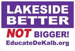 Make Lakeside HS Better Not Bigger