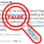 Claim that Dubai banned Nigerians from entering the city due to alleged criminality is FALSE